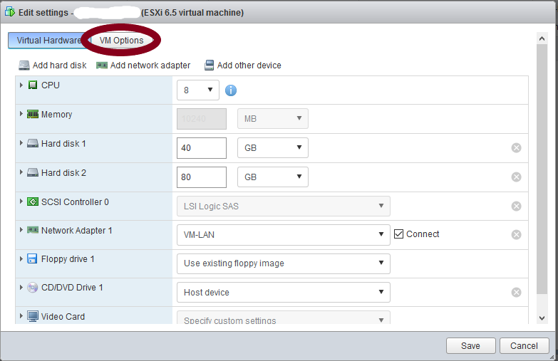 Edit VM settings > VM Options tab&#8221; class=&#8221;wp-image-445&#8243;/></figure>    <figure class=